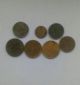 Монеты царская и савдеп ранний серебро есть