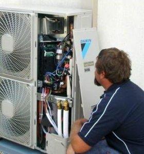 Обслуживание сплит систем, кондиционеров и ремонт