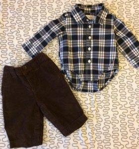 Брюки BabyGap + рубашка/боди