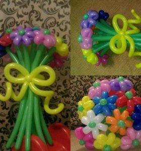 Букеты из воздушных шаров,гелиевые шары от 40₽,