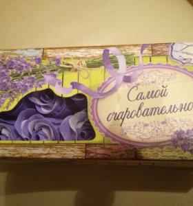 Подарочный набор мыльные цветы