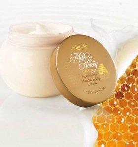 Питательный крем для тела и рук  «Молоко и мед >