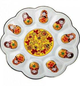 Тарелка для яиц фарфоровая