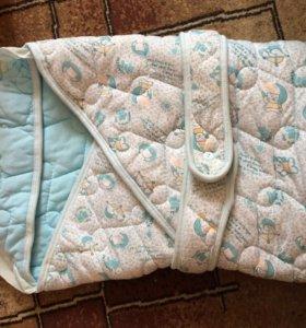 Одеяло на выписку или в коляску