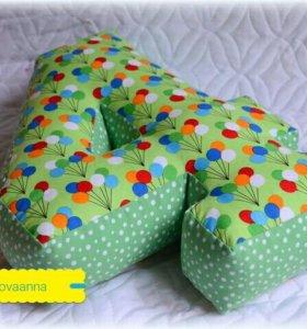 Мягкие цифры - подушки на заказ
