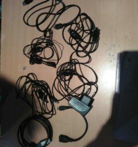 Кабеля, провода,переходники,наушники .