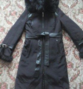 Плащ-пальто натур. кролик, р-р 42-44
