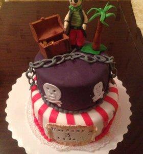торт для любителей пиратов