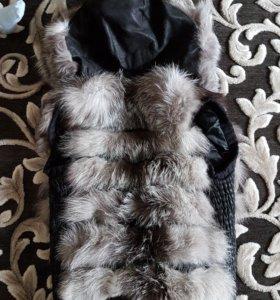 Меховый жилет