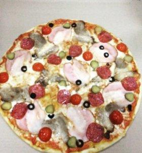 Пицца и роллы