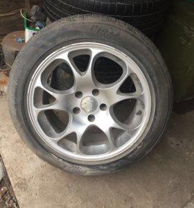 Комплект летних колёс на литье