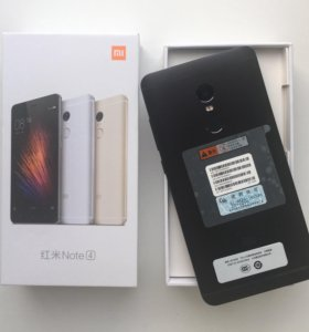 Xiaomi Redmi Note 4 в черном цвете