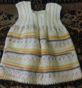 Детское платье вязаное
