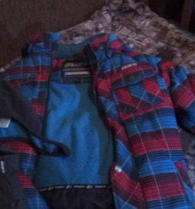 Зимний комплект Густи,с шапкой и руковицами.