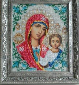 Икона ручная работа. Казанская Божья Мать.