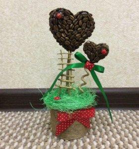 Топиарий подарок 8 марта денежное дерево счастья