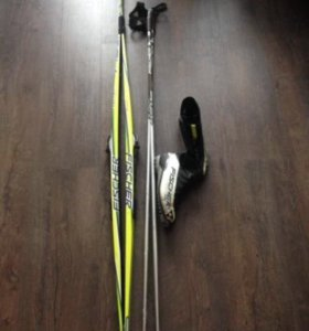 Лыжи и ботинки Fischer муж.