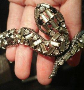 Змея браслет кулон украшение