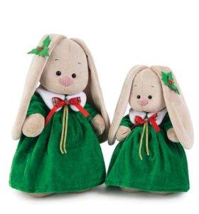 Зайка Ми в рождественском платье большая