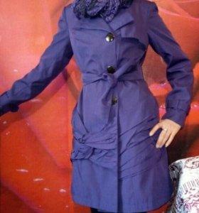 Плащ-пальто с шарфом