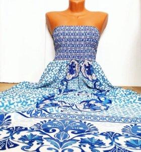 Новое шифоновое платье в пол