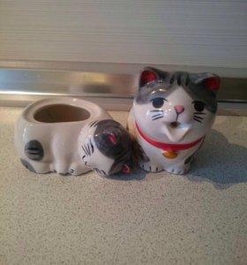 Статуэтки-котики (пара)