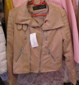 Куртка замша беж