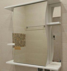 Зеркальный шкафчик для ванной комнаты.