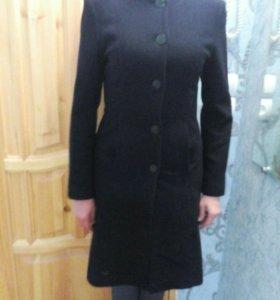 Пальто классика драповое чёрное