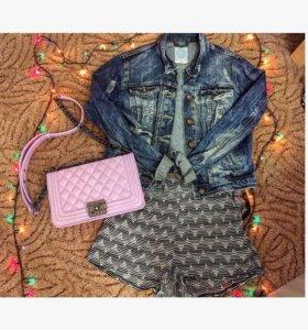 Джинсовая куртка ,шорты ,сумка