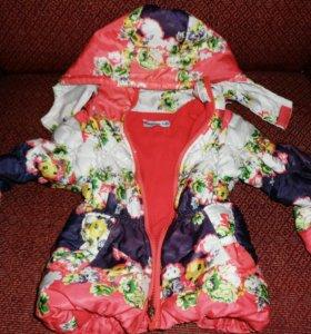 Осенняя курточка на девочку (2-3года)