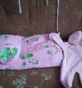 Детские матрас и подушка в коляску.