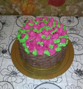 Домашние тортики и печенье .