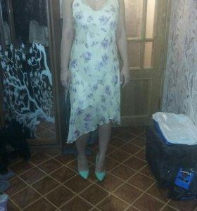 100% шелковое платье
