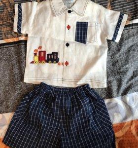 Костюм рубашка и шорты новый,бирки