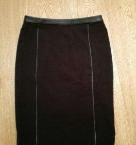 Черная юбка в офис