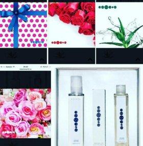 Наборы парфюм+гель +бальзам