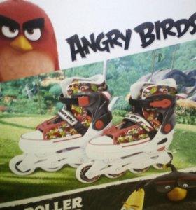 роликовые коньки Angry birds