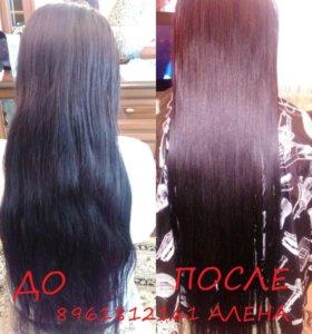 Модель на ламинирование волос