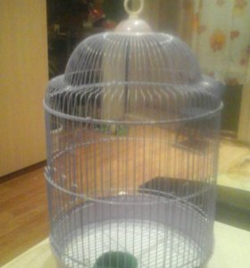 Клетка для попугаев в хорошем состоянии.