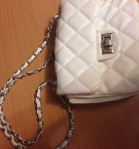 Белый клатч, сумка