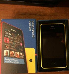 Смартфон Nokia Asha 501 dual Sim