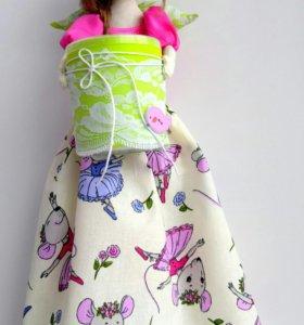 Кукла хранительница ватных палочек и дисков