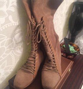 Сапоги туфли замшевые Zara