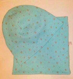 Комплект шапка-снуд, 52-54 размер