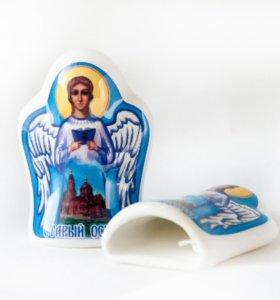 """Магнит-колокольчик керамический""""Ангел"""""""