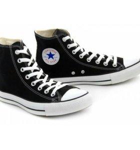 Кеды черные высокие Converse All Star