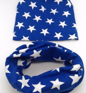 Комплект шапка+ снуд ( шарф)