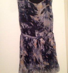 Шифоновое платье с гафрированной юбкой
