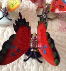 Бабочки для декора на дачи 15 см